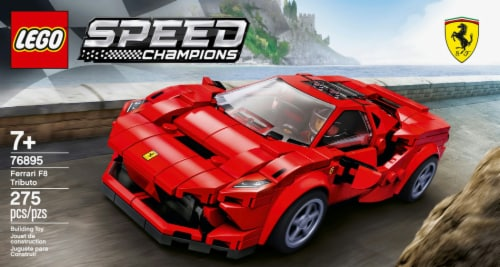 LEGO® Speed Champions Ferrari F8 Tributo Building Set Perspective: left