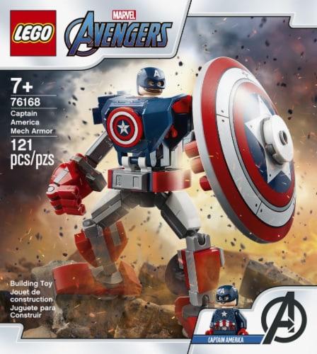LEGO® Marvel Avengers Captain America Mech Armor Building Toy Perspective: left