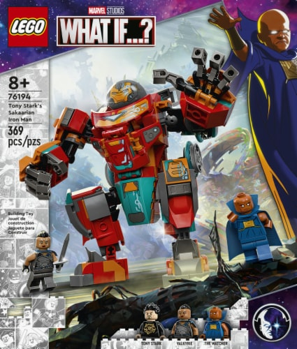 LEGO® Marvel What If? Tony Stark's Iron Man Building Set Perspective: left