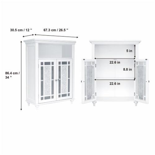 Elegant Home Fashions Wooden Bathroom Floor Cabinet Doors Windsor White ELG-529 Perspective: left