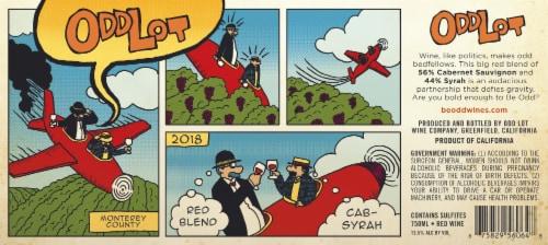 Odd Lot Cabernet Sauvignon-Syrah Red Blend Wine Perspective: left