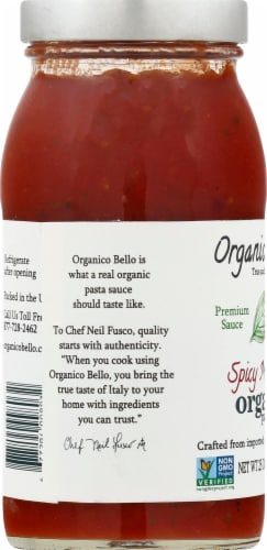 Organico Bello Organic Spicy Marinara Pasta Sauce Perspective: left