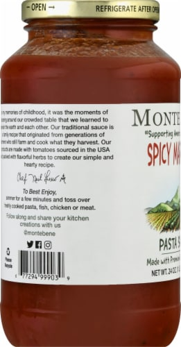 Monte Bene Spicy Marinara Pasta Sauce Perspective: left