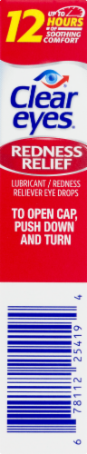 Clear Eyes Redness Relief Eye Drops Perspective: left
