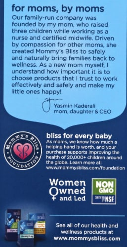 Mommy's Bliss Organic Baby Elderberry Immunity Boost Drops Perspective: left