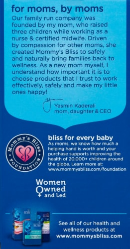 Mommy's Bliss  Organic Elderberry Syrup + Immunity Boost Liquid Kids 1-12 Years Perspective: left