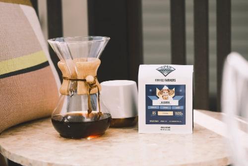 "Progeny Coffee- ""Alegria"" Colombia Single Origin- Dark Roast- Dark Chocolate & Caramel Perspective: left"