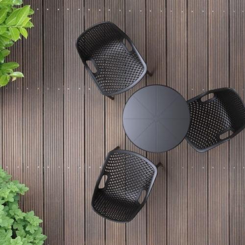 Atlin Designs Round Bistro Table in Black Perspective: left
