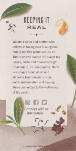 Numi Organic Chocolate Pu-Erh Tea Bags Perspective: left