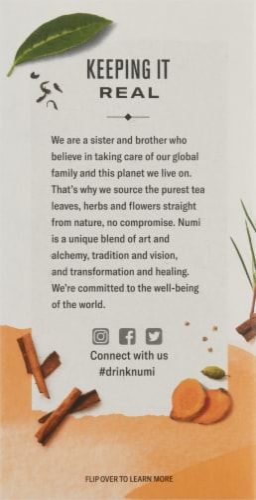Numi Organic Turmeric Amber Sun Tea Perspective: left