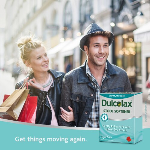 Dulcolax Stool Softener with HydroSoft Action Liquid Gels Perspective: left