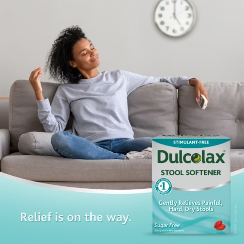 Dulcolax Stool Softener Liquid Gels Perspective: left