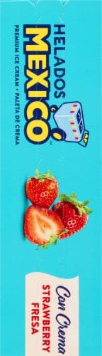 Helados Mexico Strawberry Ice Cream Bars Perspective: left
