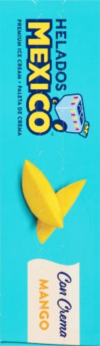 Helados Mango Fruit Ice Cream Bars Perspective: left