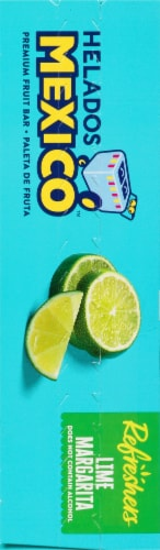 Helados Mexico Refreshers Lime Margarita Paletas Fruit Bars Perspective: left