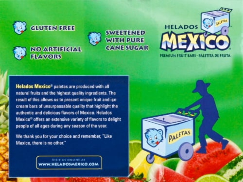 Helados Mexico Mini Frozen Fruit Bars Variety Pack Perspective: left