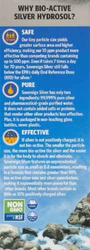 Sovereign Silver Bio-Active Immune Support Hydrosol Dropper Perspective: left