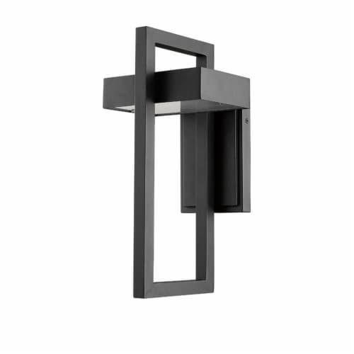 Z-Lite 566M-BK-LED Luttrel 15-Inch Modern Outdoor Metal Sconce Wall Light, Black Perspective: left