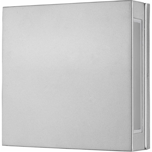 Z-Lite Quadrate 2 Light 11  Glass Aluminum Outdoor LED Wall Sconce in Silver Perspective: left
