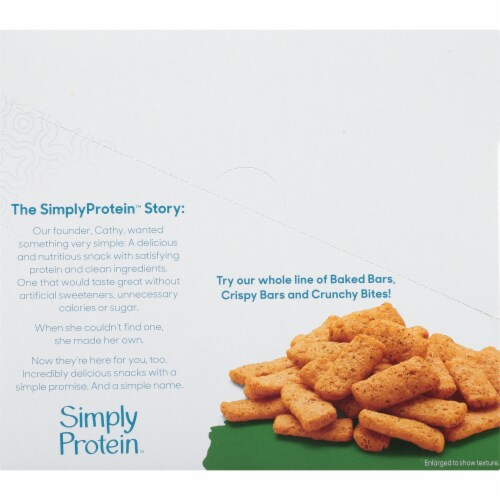 SimplyProtein Sea Salt & Cracked Pepper Crunchy Bites Perspective: left