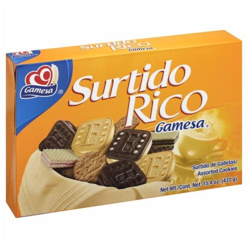 Gamesa Vanilla Deluxe Cookie Snacks Perspective: left