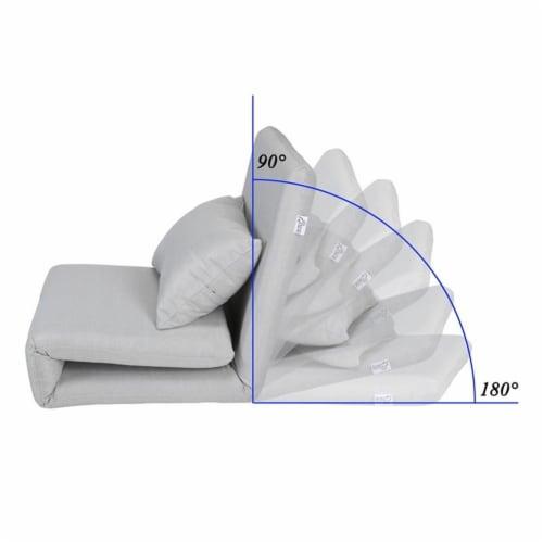 Relaxie Floor Chairs Beige Linen Sleeper Dorm Bed Couch Lounger Sofa Perspective: left
