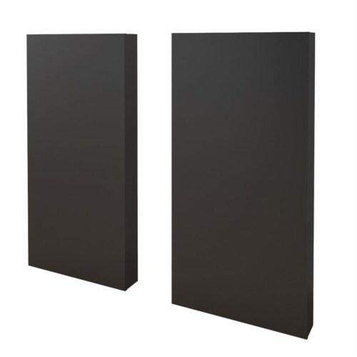 Nexera 3 Piece Twin Size Bedroom Set Truffle & Black Perspective: left