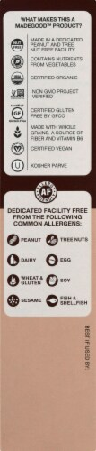 MadeGood Gluten Free Soft Baked Mini Chocolate Chip Cookies Portion Packs Perspective: left