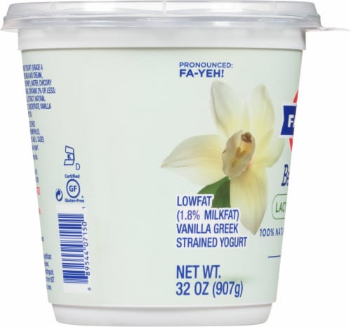 Fage BestSelf Vanilla Yogurt Perspective: left