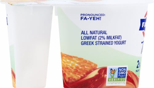 Fage Total 2% Honey Greek Yogurt Perspective: left