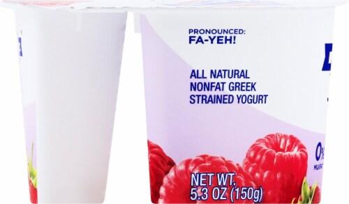 Fage Total 0% Milkfat Raspberry Greek Yogurt Perspective: left