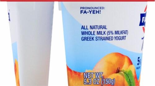 Fage Total 5% Peach Greek Yogurt Perspective: left