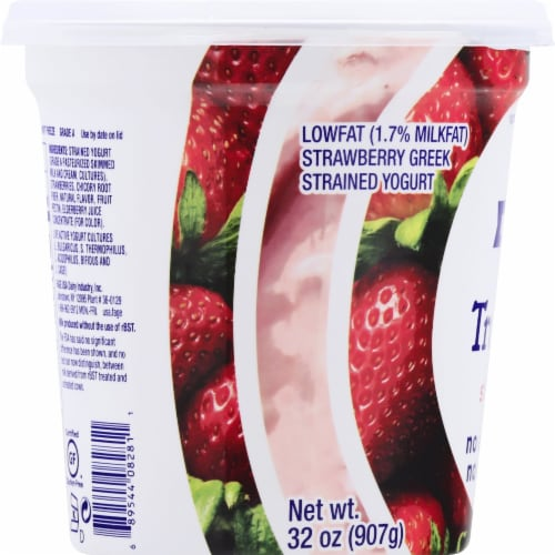 Fage TruBlend Lowfat Strawberry Greek Yogurt Perspective: left
