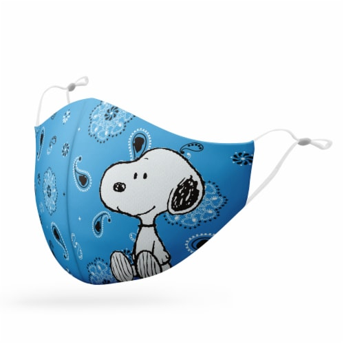 MTI Reusable Peanut Cartoon Fabric Face Masks Perspective: left