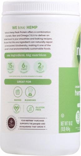 Nutiva 15G Organic Hemp Protein Perspective: left