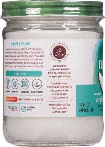 Nutiva Organic Virgin Coconut Oil Perspective: left