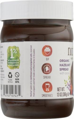 Nutiva® Organic Gluten Free Hazelnut with Cocoa Dark Spread Perspective: left