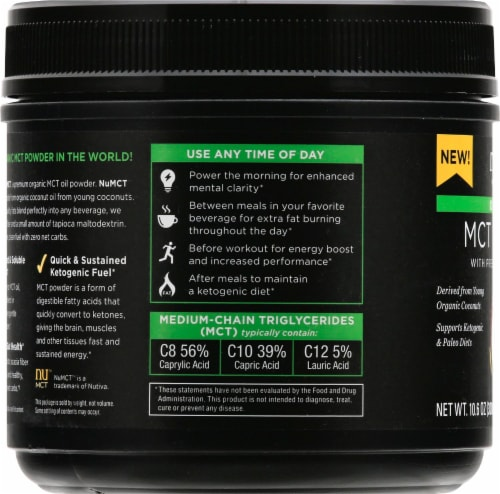 Nutiva Organic MCT Powder with Prebiotic Acacia Fiber Perspective: left