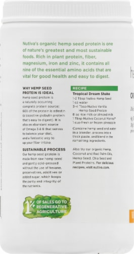 Nutiva Organic Vanilla Hemp Seed Protein Powder Perspective: left