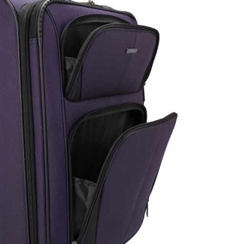 U.S. Traveler Esther Expandable Spinner Luggage Set - Purple Perspective: left