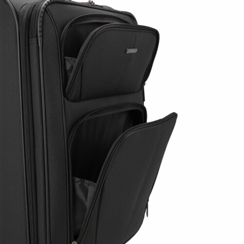 U.S. Traveler Esther Expandable Spinner Luggage - Black Perspective: left