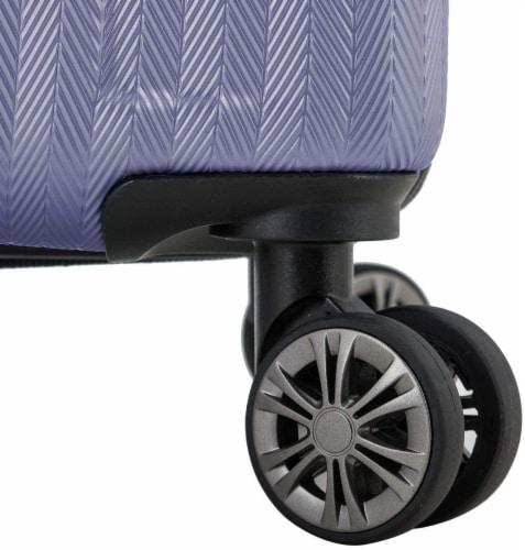 Traveler's Choice Dana Point Expandable Hard-Shell Luggage Set with USB Port - Light Lavender Perspective: left
