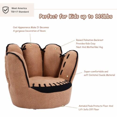 Costway Kids Sofa Five Finger Armrest Chair Couch Children Living Room Toddler Gift Perspective: left