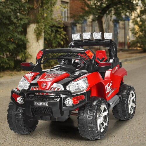 Costway 12V Kids Ride On Truck Car SUV MP3 RC Remote Control w/ LED Lights Music Perspective: left