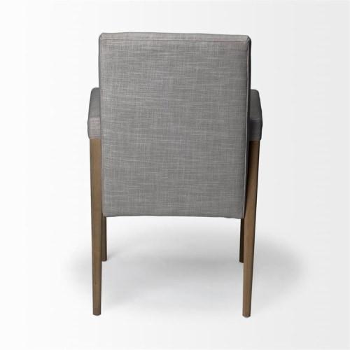 Mercana Palisades Fabric Flint Gray Chair Perspective: left