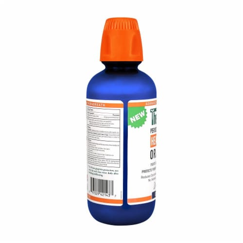 Therabreath Clean Mint Healthy Gums Oral Rinse Perspective: left
