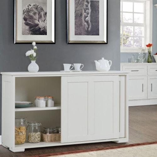 Costway Kitchen Storage Cabinet Sideboard Buffet Cupboard Wood Sliding Door Pantry Perspective: left