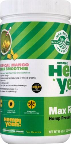 Manitoba Harvest Organic Hemp Pro Fiber Powder Supplement Perspective: left