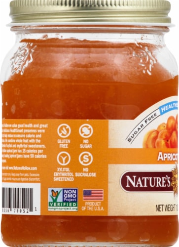 Nature's Hollow Sugar Free Apricot Jam Perspective: left
