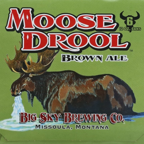 Big Sky Brewing Company Moose Drool Brown Ale Perspective: left